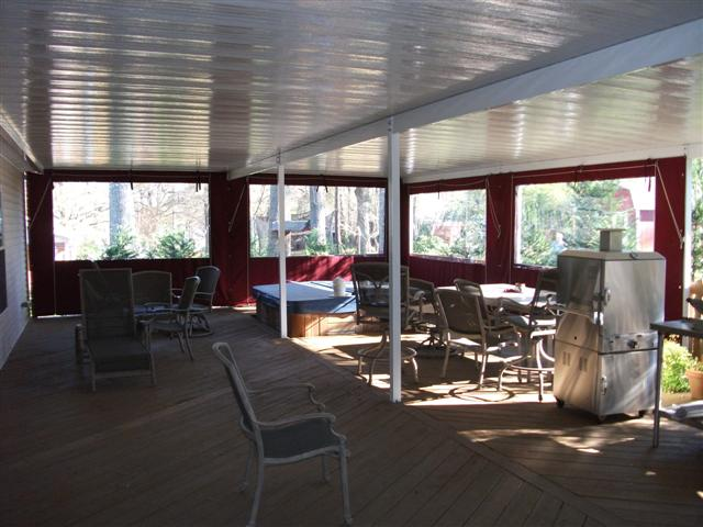 Exterior Solar Screens And Drop Curtains