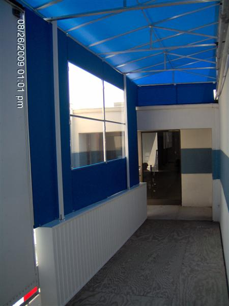 Fabric Curtain Walls And Drop Shades